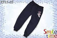Штаны для девочки теплые р.98,104,110,116,122, 128,134,140,146,152 SmileTime Stripe, синие, фото 1
