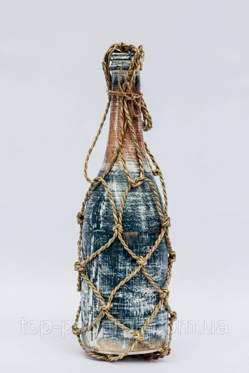 Бутылка в морском стиле высота 30 см