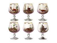 Набор бокалов для коньяка NB Art Охота 250 мл 6 шт (розовый), 615-4371
