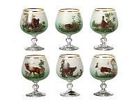 Набор бокалов для коньяка NB Art Охота 250 мл 6 шт (зеленый), 615-4361