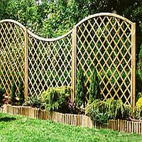 Прозрачный забор из дерева