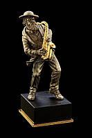 Статуэтка бронзовая Саксофонист