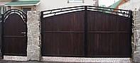 """Деревянные ворота для дома """"Модерн"""""""