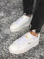 20af171f7e3a Женские кроссовки в стиле PUMA Rihanna Suede Creepers, белые, кожа