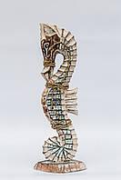Статуэтка морской конек деревянный высота 38 см