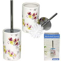 Туалетный ершик с подставкой 'Орхидея' 33,5*10 см