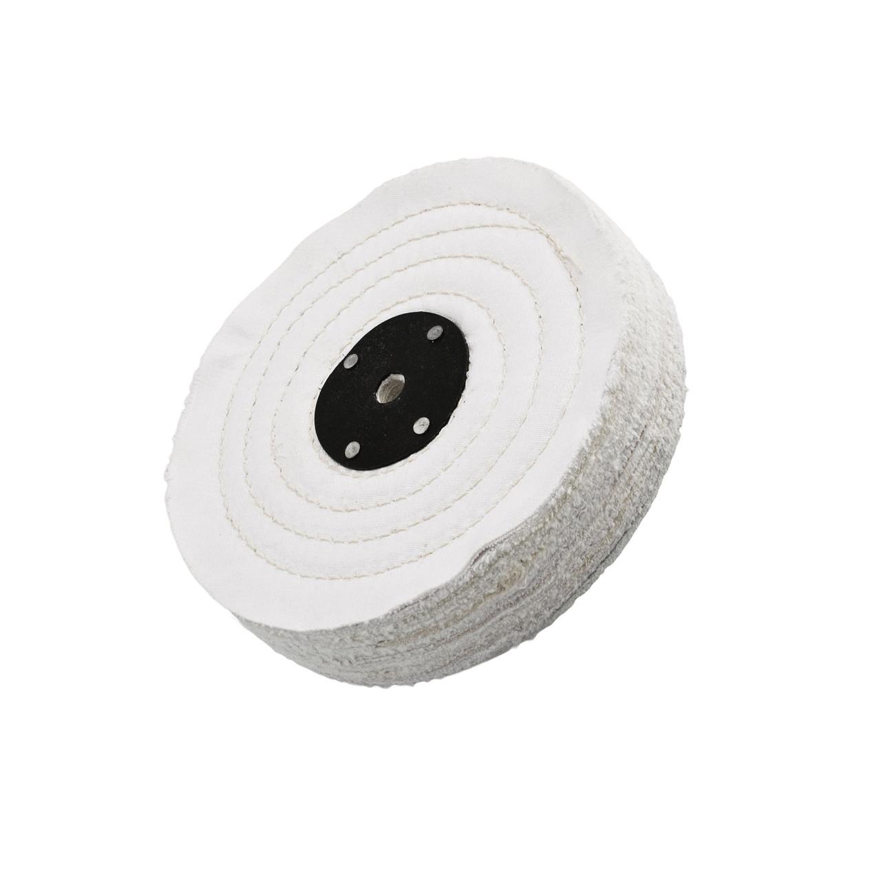 """Круг полировальный для металла - Flexipads Stitched Cotton Mops 150x25 мм. 6x1"""" белый (52105)"""