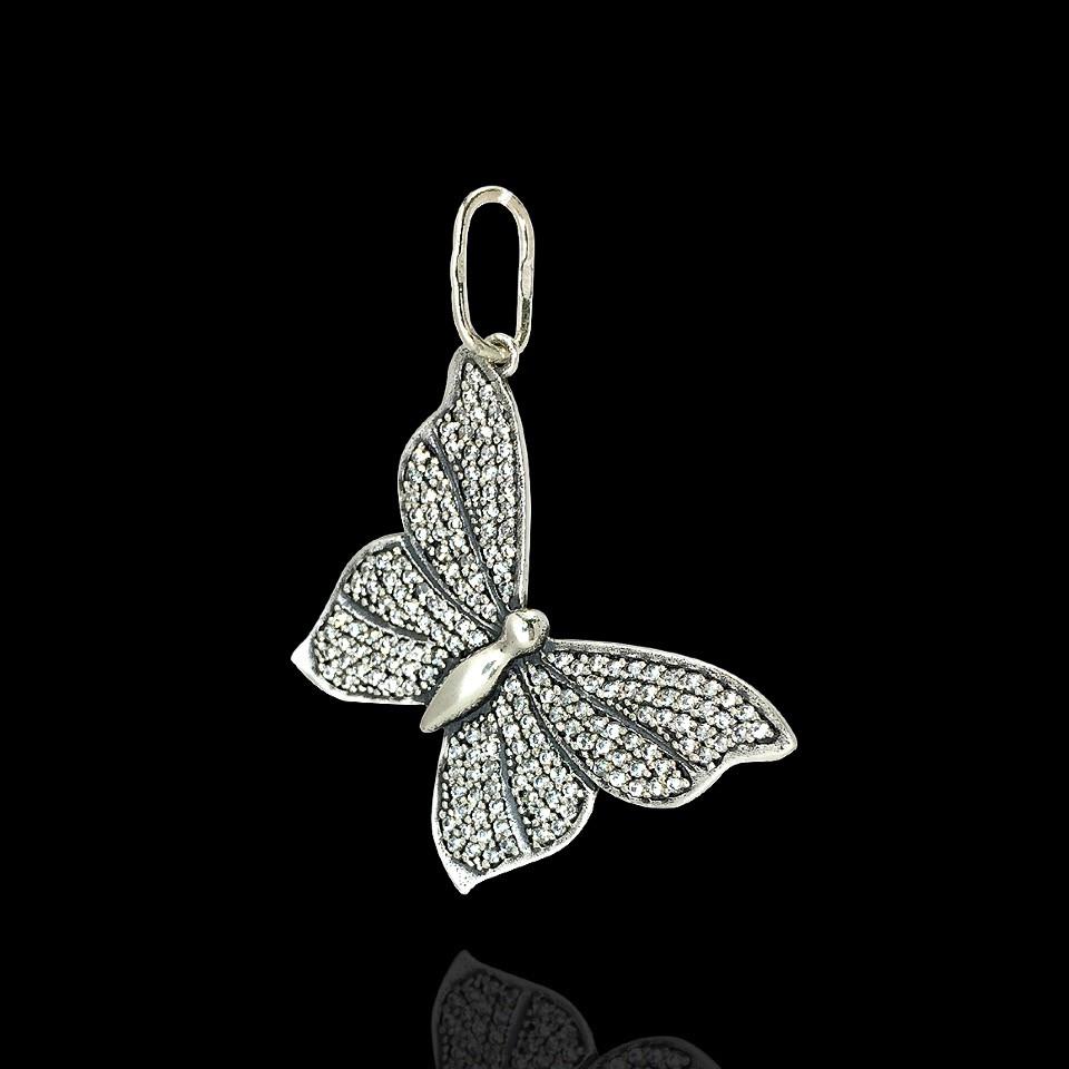 Срібна підвіска Метелик