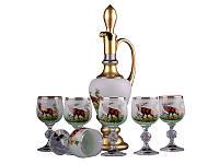 Набор для вина NB Art Охота (Графин + бокалы 190 мл 6 шт) , 615-459