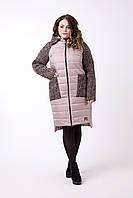 Комбинированное пальто больших размеров 48-62