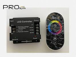 Контроллер RGB радио RF сенсорный черный 18A Prolum