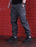 Мужские черные штаны карго