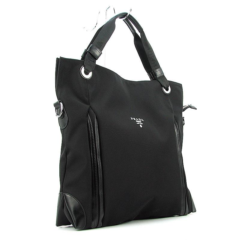 60ac2e90a8de Сумка женская большая текстильная черная Prada 1722 - Интернет-магазин