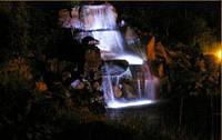 Подсветка уличная садовая фонтана и бассейна герметичная блок питания 25 см монохром 078