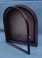 Киот для арочной иконы, с внутренней деревянной рамой, открывающийся., фото 5