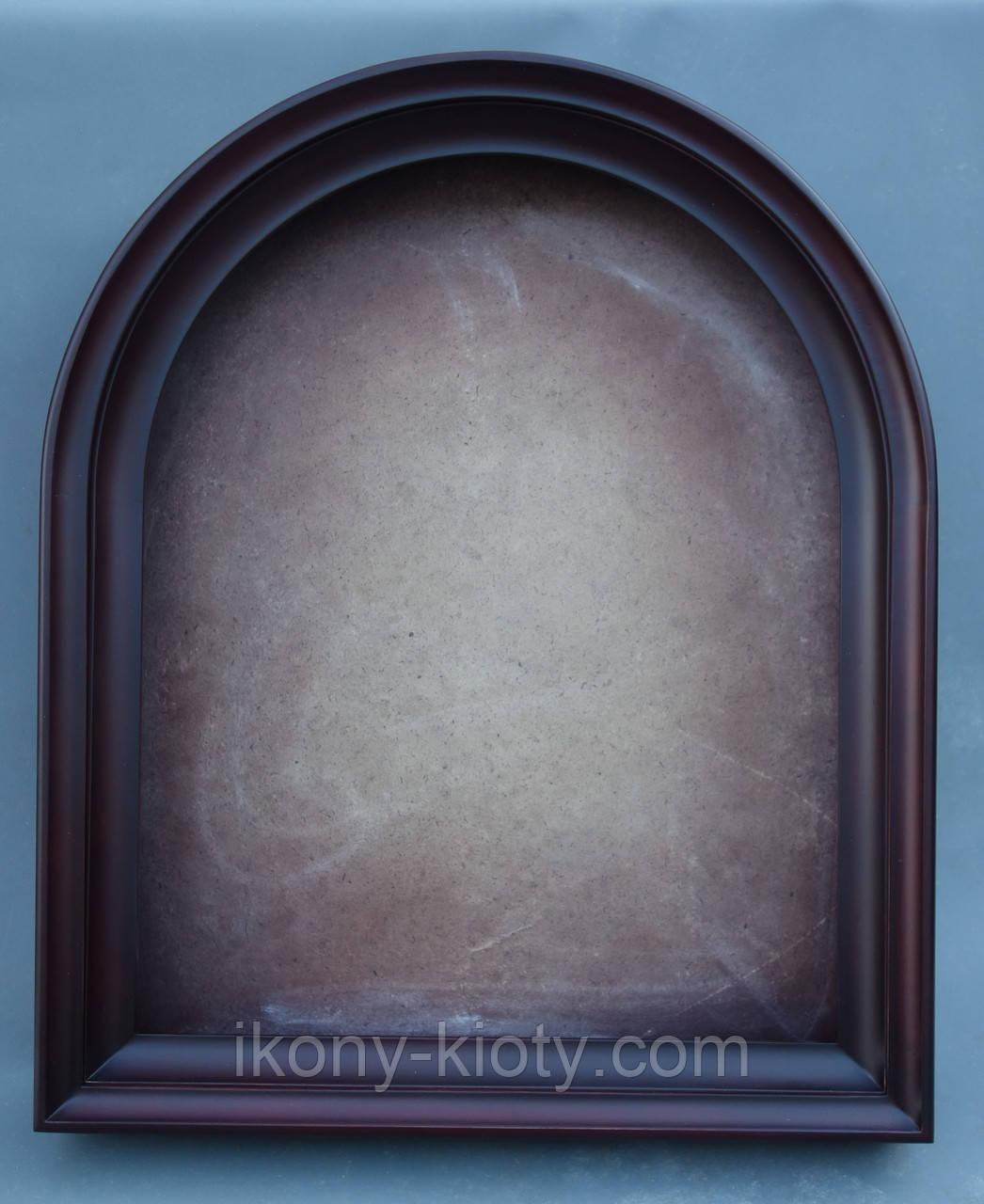 Киот для арочной иконы, с внутренней деревянной рамой, открывающийся.