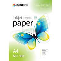 Фотопапір A4 180 г/м2 глянцевий Printpro