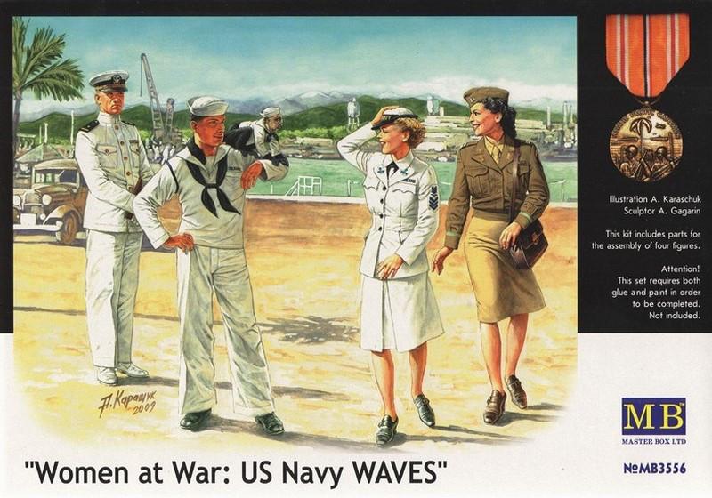 Женщины на войне: ВМС США. 1/35 MASTER BOX 3556