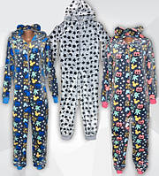 Пижама кигуруми (комбинезон) махровая детская 01242 Gulliver, р.р.26-38