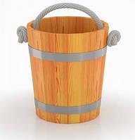 Ведро премиум-класс Bentwood 15 л лиственница натуральная