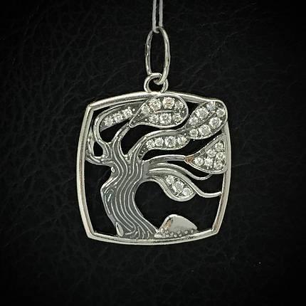 Срібна підвіска з камінням Дерево, фото 2