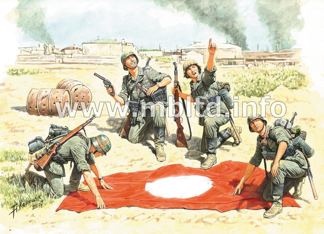 "Stukas im Anflug! - ""Stukas flying!"", German Infantry, Stalingrad, Summer 1942. 1/35 MB3545"