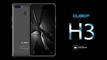 "Смартфон Cubot H3, 3/32Gb, 13/2Мп, 2 SIM, 5"" IPS, 4 ядра, 6000 мАч, 4G, Android 7.0"