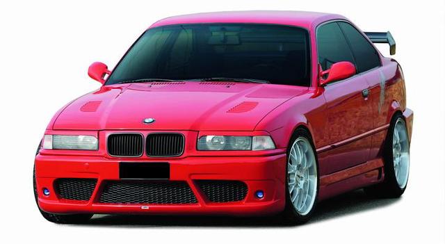 BMW e36 как установка переднего бампера