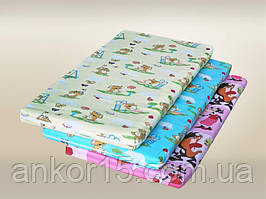 Матрас в детскую кроватку двухслойный (кокос+поролон) 120х60