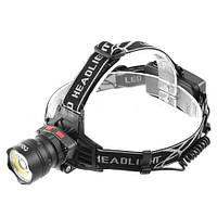 Фонарь на лоб Police BL-8005-T6+COB, signal light, 12V, zoom, датчик движения