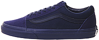 "Мужские кеды Vans Old Skool Mono ""Blue"" (Ванс Олд Скул) синие"