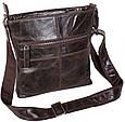 Кожаная мужская сумка LA9017-3DBR коричневый, фото 5