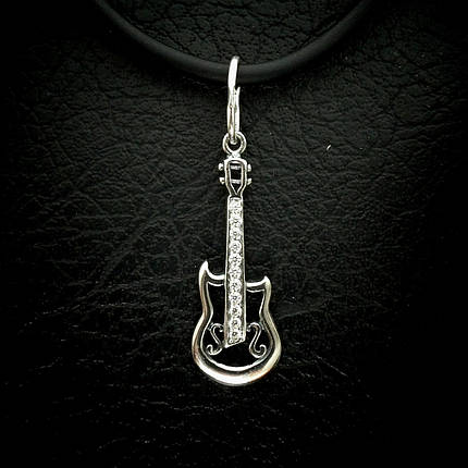 Серебряная подвеска с камнями Гитара, фото 2