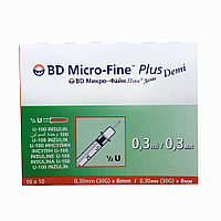 Шприцы BD Micro-Fine Plus Demi 0.30 mm (30G)*8 mm