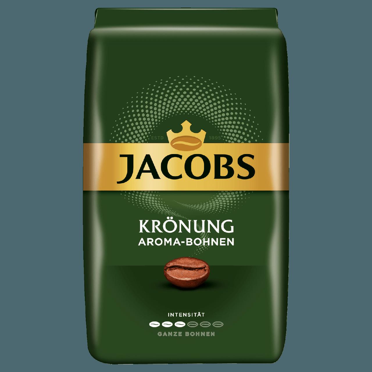 Кофе в зернах арабика средней обжарки Jacobs Kronung Aroma-Bohnen, 500г, Голландия