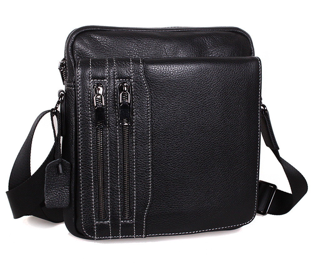 Чоловіча шкіряна сумка DL5156-33 чорна