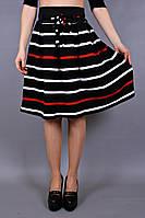 Юбка трикотажная Полоса, юбка расклешённая, юбка миди, юбка для офиса, для школы