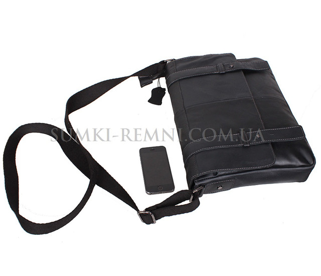 f4af17b48b1e Мужская кожаная сумка A4 Dovhani PRE1862 Черная, цена 2 450 грн ...