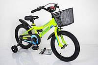 Велосипед детский Intense 16 дюймов N-200 Салатовый-неон
