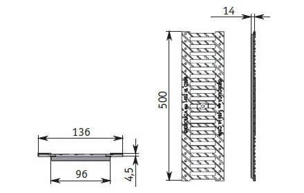 Решетка водоприемная РВ -10.13,6.50 щелевая чугунная ВЧ,DN100 кл. С, фото 2