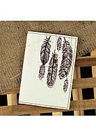 """Обложка для паспорта """"Воздушные перья"""" + блокнотик"""