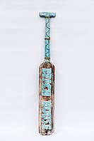 Весло декоративное деревянное длина 100 см