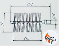 Стальной ершик щетка для котла 100 мм