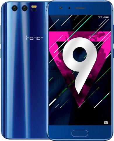 "Смартфон Huawei Honor 9 Blue, 6/64Gb, 20+12/8Мп, 5.15"" IPS, 2 sim, 4G, 3200мАh, Kirin 960, 8 ядер"