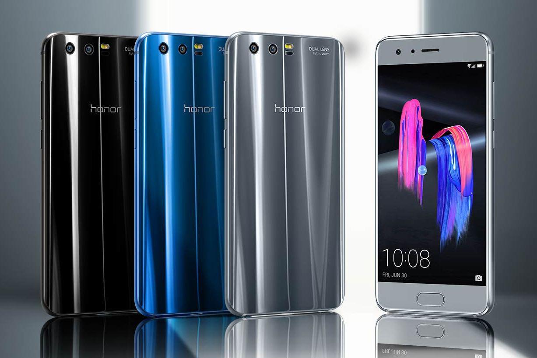 "Смартфон Huawei Honor 9 Blue, Gray 6/128Gb, 20+12/8Мп, 5.15"" IPS, 2 sim, 4G, 3200мАh, Kirin 960, 8 ядер"
