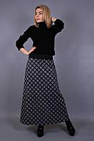 Юбка длинная Шотландка мелкая клетка, длинная юбка в клетку, юбка большого размера, дропшиппинг