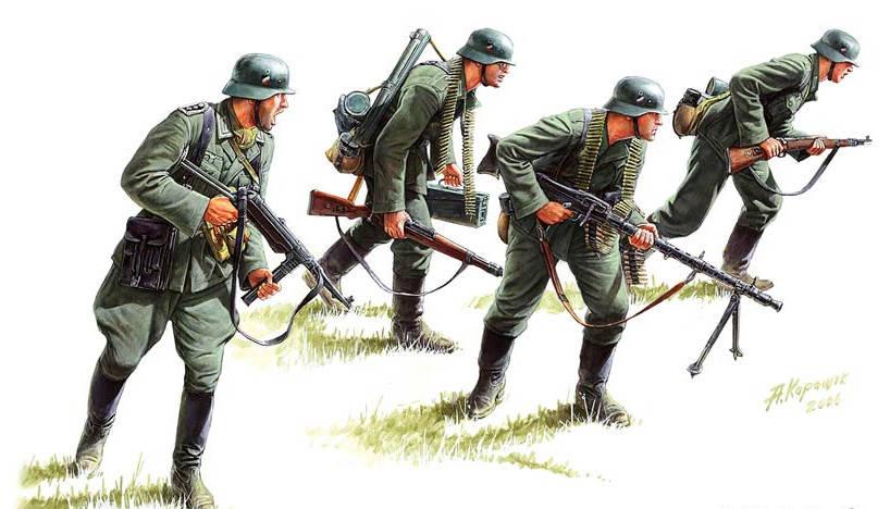 German panzergrenadiers (1939-1942). 1/35 MB3513, фото 2