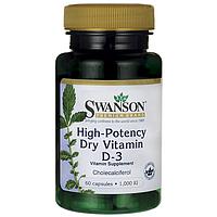 Высокоэффективныйсухой Витамин Д3, 1000 МЕ 60 капсул