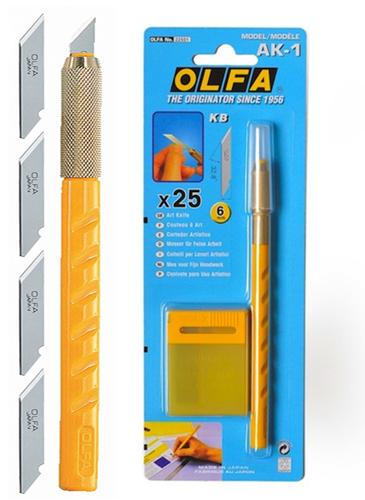 Нож скальпель OLFA AK-1 6 мм (25 шт)