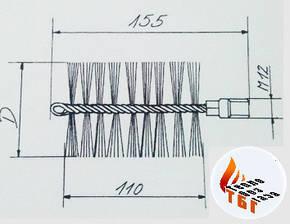 Металлическая щетка  для котла 80 мм (сталь), фото 2